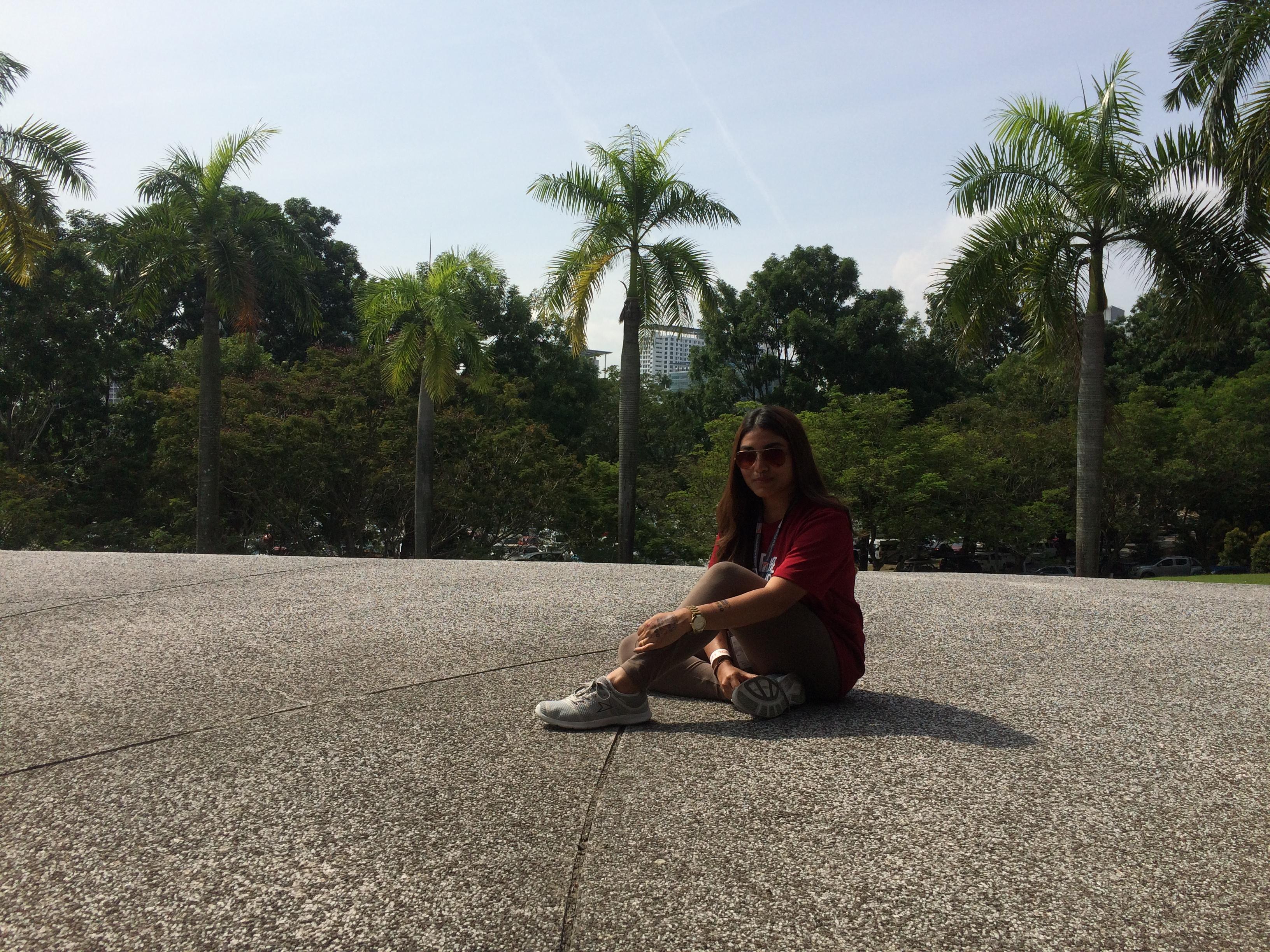 Outside the Melawati Stadium